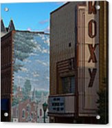 Roxy Theater And Mural Acrylic Print by Ed Gleichman