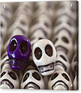 Royal Purple And White Acrylic Print by Mike Herdering