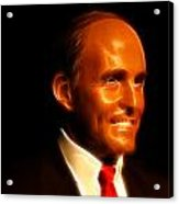 Rudy Giuliani - Rudolph William Louis Giuliani Acrylic Print by Lee Dos Santos