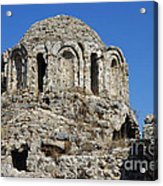 Ruins Of Byzantine Basilica Alanya Castle Turkey Acrylic Print by Matthias Hauser