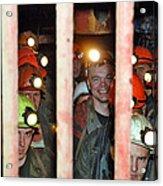Russian Miners Acrylic Print by Ria Novosti