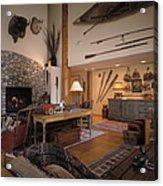 Rustic Lodge Acrylic Print by Robert Pisano