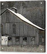 Rustic Weathered Mountainside Cupola Barn Acrylic Print by John Stephens