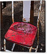 Rusty Metal Chair Acrylic Print by Garry Gay