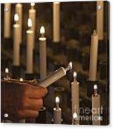 Sacrificial Candles 3 Acrylic Print by Heiko Koehrer-Wagner