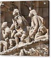 Sagrada Familia Barcelona Nativity Facade Detail Acrylic Print by Matthias Hauser