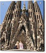 Sagrada Familia Church - Barcelona Spain Acrylic Print by Matthias Hauser
