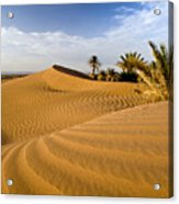 Sahara Desert At M'hamid, Morocco, Africa Acrylic Print by Ben Pipe Photography