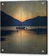 Sailing Boat At Night Acrylic Print by Joana Kruse