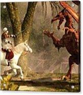 Saint George And The Dragon Acrylic Print by Daniel Eskridge
