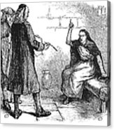 Salem Trials: Martha Corey Acrylic Print by Granger