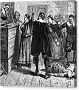 Salem Witch Trials, 1692-93 Acrylic Print by Photo Researchers