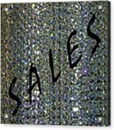Sales Gallery Acrylic Print by Will Borden