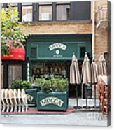 San Francisco - Maiden Lane - Mocca Cafe - 5d17788 Acrylic Print by Wingsdomain Art and Photography