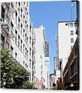 San Francisco - Maiden Lane - Outdoor Lunch At Mocca Cafe - 5d18011 Acrylic Print by Wingsdomain Art and Photography