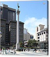 San Francisco - Union Square - 5d17933 Acrylic Print by Wingsdomain Art and Photography