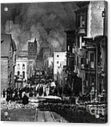 San Francisco Burning After 1906 Acrylic Print by Science Source