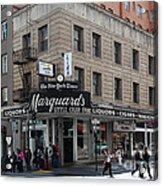 San Francisco Marquards Little Cigar Store Powell Street - 5d17950 Acrylic Print by Wingsdomain Art and Photography