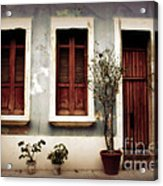 San Juan Living Acrylic Print by Perry Webster