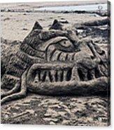 Sand Dragon Sculputure Acrylic Print by Garry Gay