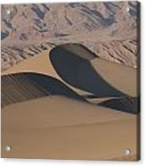 Sand Dunes In Death Valley Acrylic Print by Marc Moritsch