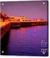 Santa Cruz Wharf Acrylic Print by Garnett  Jaeger