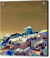 Santorini Acrylic Print by Ilias Athanasopoulos