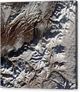 Satellite Image Of Russias Kizimen Acrylic Print by Stocktrek Images