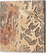 Satellite View Of Wadi Rum Acrylic Print by Stocktrek Images