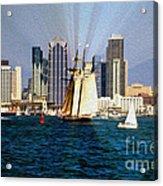 Saturday In San Diego Bay Acrylic Print by Cheryl Young