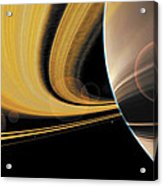 Saturn Glory Acrylic Print by Don Dixon