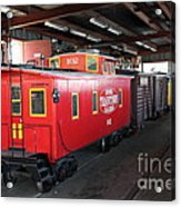 Scale Caboose - Traintown Sonoma California - 5d19240 Acrylic Print by Wingsdomain Art and Photography