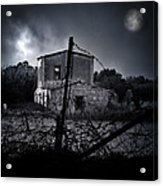 Scary House Acrylic Print by Stelios Kleanthous