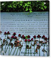 Scatter Roses On My Grave Acrylic Print by Steven Ainsworth