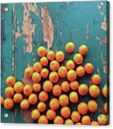 Scattered Tangerines Acrylic Print by Sarah Palmer