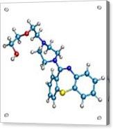 Schizophrenia Drug Molecule Acrylic Print by Dr Tim Evans