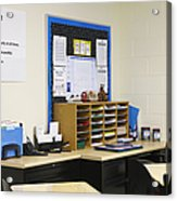 School Teachers Desk Acrylic Print by Skip Nall