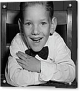 Schoolboy At Desk Acrylic Print by George Marks