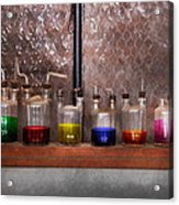 Science - Chemist - Glassware For Couples Acrylic Print by Mike Savad