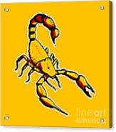 Scorpion Graphic  Acrylic Print by Pixel Chimp