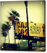Screen Actors Guild In La Acrylic Print by Susanne Van Hulst