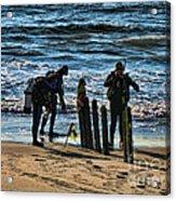 Scuba Divers Acrylic Print by Paul Ward