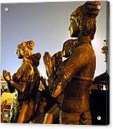 Sculpture Of Women Acrylic Print by Sumit Mehndiratta