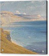 Sea And Sunshine   Lyme Regis Acrylic Print by Sir Frank Dicksee