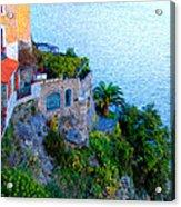 Seaside Villa Amalfi Acrylic Print by Bill Cannon