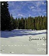 Season's Greetings Austria Europe Acrylic Print by Sabine Jacobs