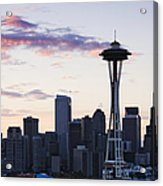 Seattle Skyline At Dusk Acrylic Print by Jeremy Woodhouse