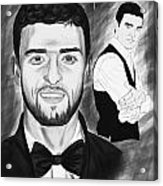 Secret Agent Justin Timberlake Acrylic Print by Pierre Louis