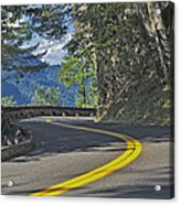 Section Of Columbia River Gorge Acrylic Print by Tatiana Boyle