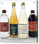 Selection Of Vinegars Acrylic Print by Trevor Clifford Photography
